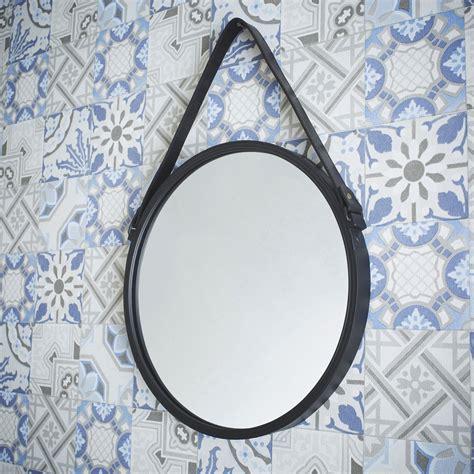 miroir barbier noir l 39 x h 39 cm leroy merlin