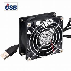 Mini Ventilator Usb : eluteng usb cooling fan 80mm 5v powerful mini cooler silent 7 blades radiator usb powered ~ Orissabook.com Haus und Dekorationen