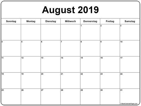 august kalender kalender