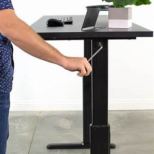 Used Manual Crank Stand Up Height Adjustable Desk Frame