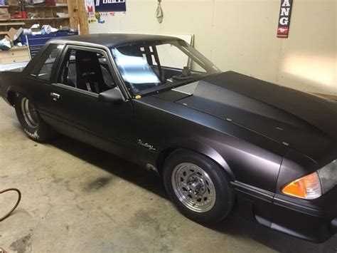 ford mustang notchback drag car twin turbo sbf