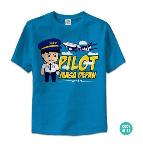 jual baju kaos anak lucu laki laki perempuan quot pilot masa