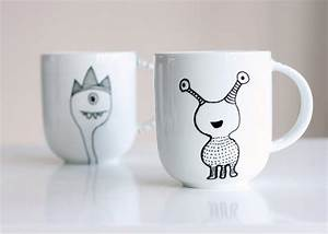 How, To, Decorate, A, Coffee, Mug, Using, A, Porcelain, Marker