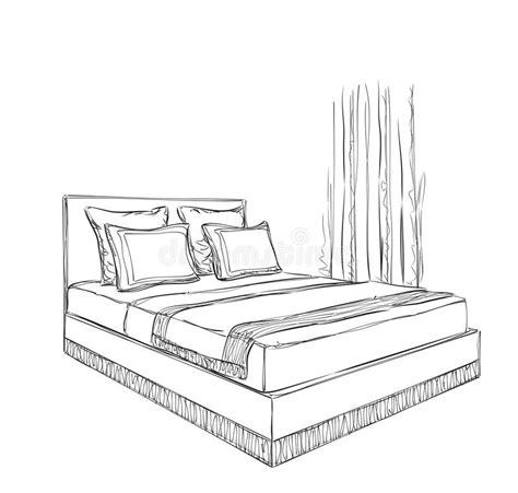 croquis chambre a coucher croquis d 39 intérieur de chambre à coucher illustration de