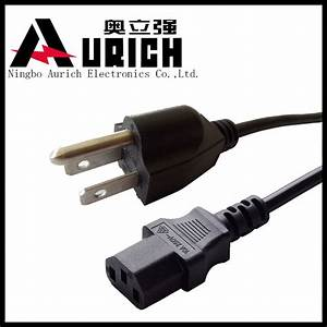 China Electrical Wiring Power Cord  Usa Nema Type 3 Prong