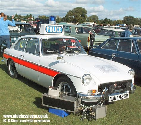 Mg Mgb Gt Police Car In White Photograph (87 Of 114