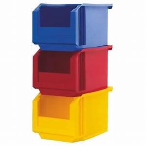 Bac De Rangement : bac de rangement empilable bec rouge jaune bleu ~ Edinachiropracticcenter.com Idées de Décoration