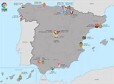 La Liga 2016–17 Map of Teams soccer