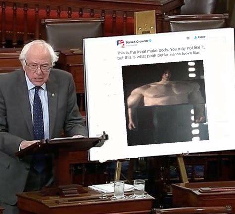 Ben Swolo Memes - bernie sanders presents quot the ideal male body quot ben swolo know your meme