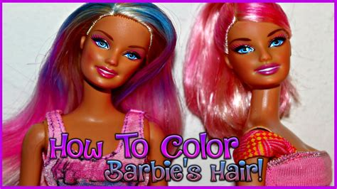 How To Color Your Barbie Doll's Hair!