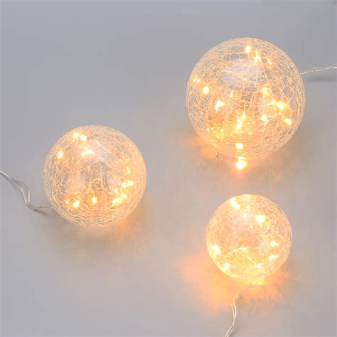white christmas light projector 45leds indoor crackled glass hanging bauble ball