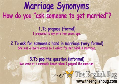 how do you to be to get married expressions marriage synonyms the english bug