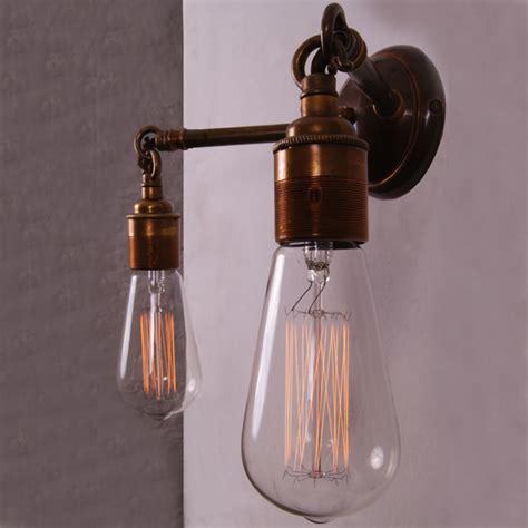 vintage industrial gemini wall light