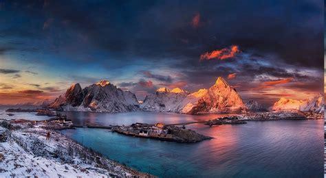 Landscape, Nature, Winter, Sunrise, Snow, Ports, Mountain