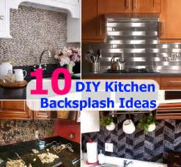 kitchen backsplash diy ideas top 10 diy kitchen backsplash ideas diy cozy home home improvement and garden tips