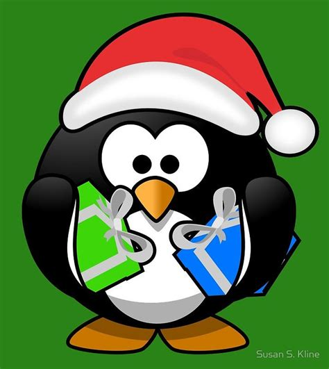 Download, share or upload your own one! Penguin with Gifts   Drawstring Bag (With images)   Christmas penguin, Santa claus pictures ...