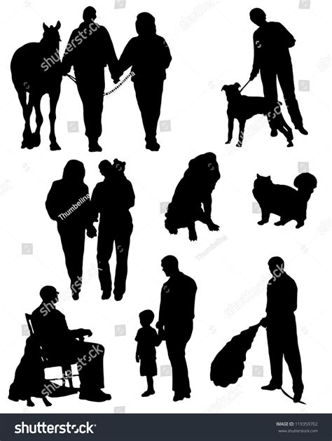 Animal pet puppy cat cute silhouette paw canine funny dog. Collection Silhouettes People Animals Married Couples ...