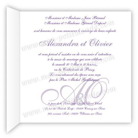 fairt part mariage exemple texte faire part mariage classique document