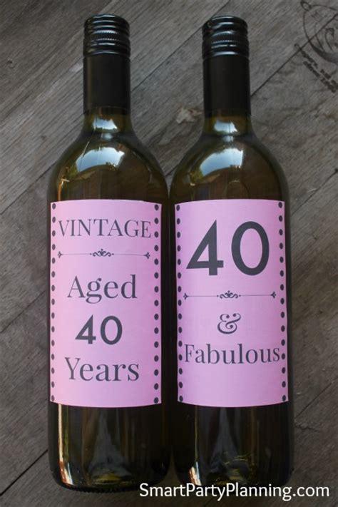 birthday wine labels