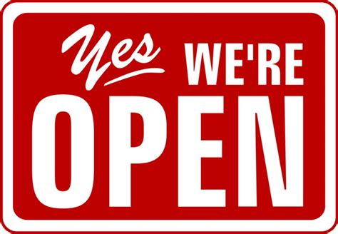 Yes We?re Open Sign for Stores ? DesignWithVinyl.com