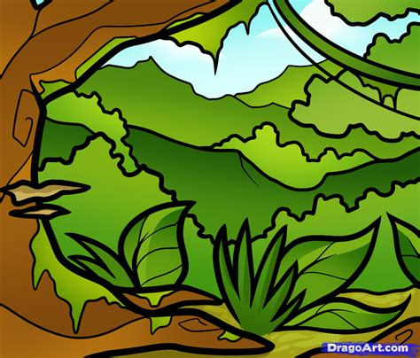 draw  jungle  kids step  step landscapes