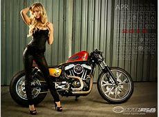 Harley Davidson Pin Up Wallpaper WallpaperSafari