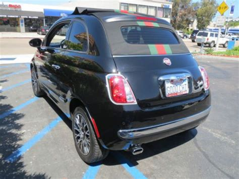 Gucci Fiat Convertible by Sell Used 2012 Fiat 500 Convertible Gucci Limited Edition