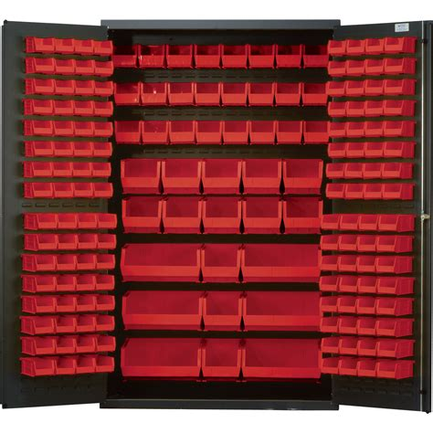 quantum storage cabinet with 171 bins 48in x 24in x