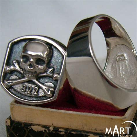 masonic skull ring  skull  bones yale ring