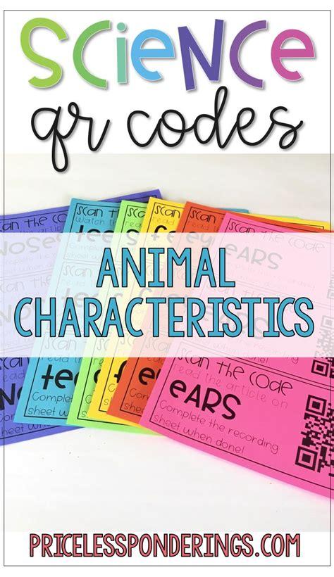 animal characteristics activities  worksheets