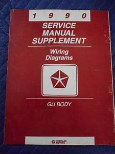 1990 Chrysler Service Manual Supplement Wiring Diagrams G