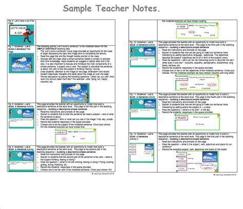 visual literacy descriptive sentence writing foundation learning interactive