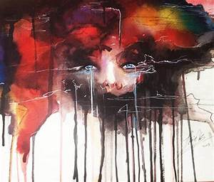 Abstract Face watercolor painting by Jonathan Knight Art ...