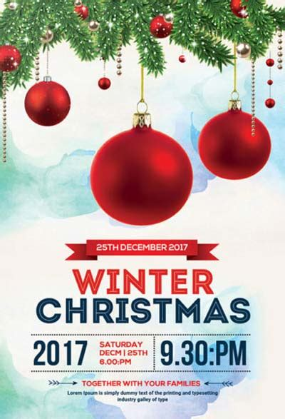 christmas twilight market flyer template free download3 best 35 free flyer templates for christmas party events