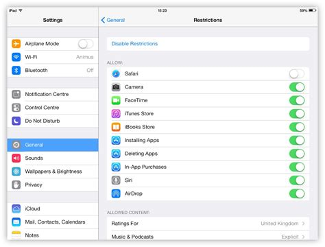 restrictions on iphone parental controls with ios restrictions the