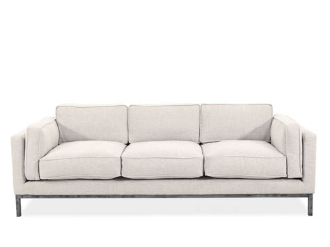 low settee 89 quot contemporary low profile sofa in beige mathis