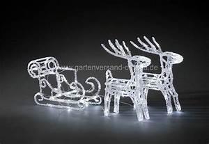 Led Weihnachtsbeleuchtung Außen : led weihnachtsbeleuchtung rentiere mit schlitten acrylfiguren schlittengespann ~ Frokenaadalensverden.com Haus und Dekorationen