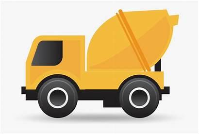 Cement Mixer Concrete Clip Cartoon Clipart Truck