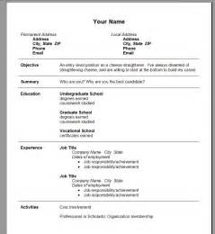 Best Resume Templates Word by Free Resume Templates Exles In Word Format Best