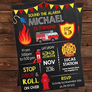 1st birthday invitations printable fire truck birthday invitation fireman birthday boy