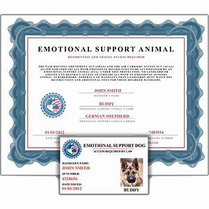 emotional support animal id card certificate service With emotional support animal documentation sample