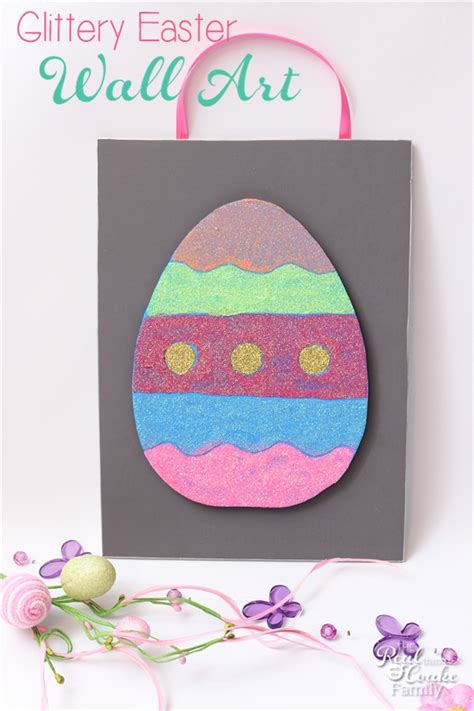 glittery easter wall art