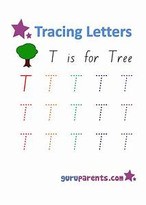 Number Chart 1 20 With Words Letter T Worksheets Guruparents