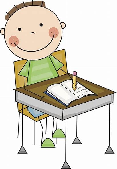 Desk Student Clipart Change Working Clip Clipground