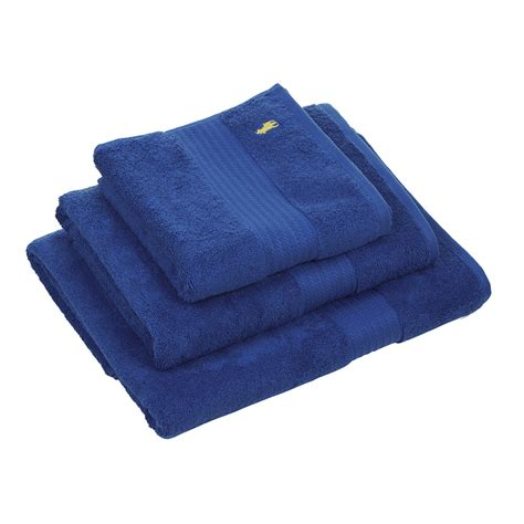ralph lauren home polo player towel cobalt bath sheet