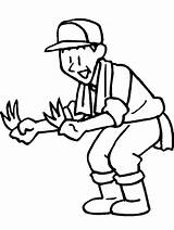 Farmer Coloring Pages Farmers Gardener Drawing Clipart Cartoon Dell Cliparts Farm Printable Clip Tools Easily sketch template