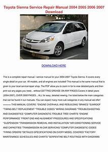 1999 Toyota Sienna Service Shop Repair Manual Set Service Manual And The Wiring Diagrams Manual