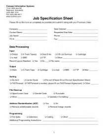 Best Photos Of Job Specification Template Sample Job