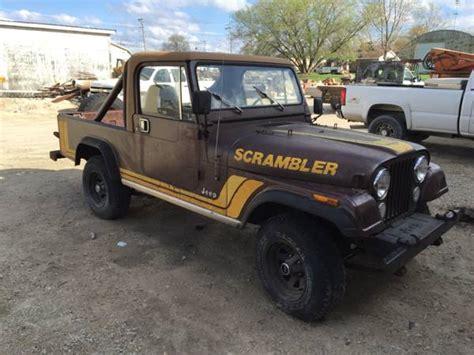 jeep scrambler for sale on craigslist 1984 jeep scrambler cj8 v6 manual for sale sycamore il