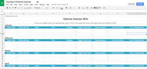 Editorial Calendar Template Editorial Calendar Template Design Templates